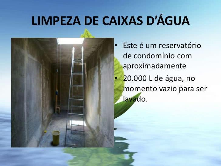 Limpeza de Caixa D'água em Condomínio
